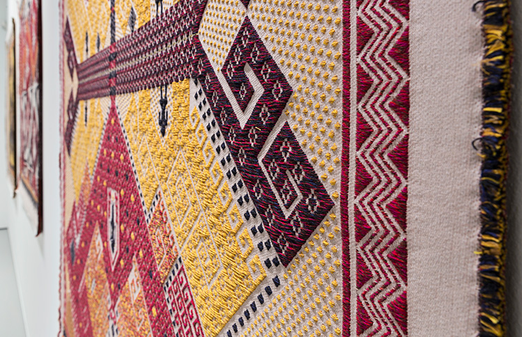 Jennifer Tee, (detail) Tampan Tree of Life (2016), Collection TextielMuseum, Photo: Josefina Eikenaar/TextielMuseum